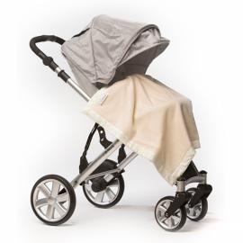 Плед для новорожденного Organic Stroller Blanket Ivory w/KW Mod C