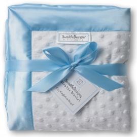 Плед детский флис SwaddleDesigns Stroller Blanket WH Plush/Bl Velvet