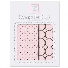 Набор пеленок SwaddleDesigns Swaddle Duo Pstl Pink Modern