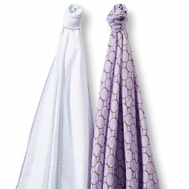 Набор пеленок SwaddleDesigns Swaddle Duo Lavender Duo