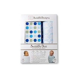 Наборы пеленок SwaddleDesigns Swaddle Duo Gold & Pastel Dots with Mocha URB + Triplets Paisleys MSB