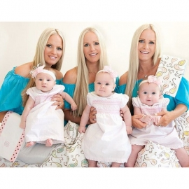 Набор пеленок SwaddleDesigns Swaddle Duo Kiwi Triplets Duo