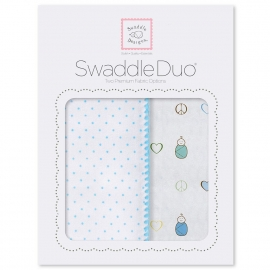 Набор пеленок SwaddleDesigns Swaddle Duo BL Peace/LV/SW
