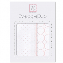 Набор пеленок SwaddleDesigns Swaddle Duo Pstl Pink Classic