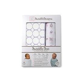 Наборы пеленок SwaddleDesigns Swaddle Duo Mod Circle on White URB + Peace Love Swaddle MSB