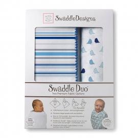 Набор пеленок SwaddleDesigns Swaddle Duo BL/TB Lt Chickies