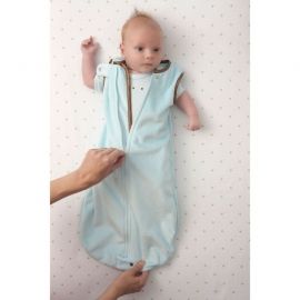 Детский спальный мешок SwaddleDesigns zzZipMe 3-6 М Blue Puppytooth