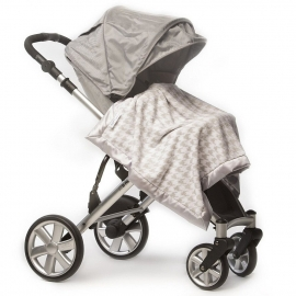 Плед детский SwaddleDesigns Stroller Blanket ST Puppytooth