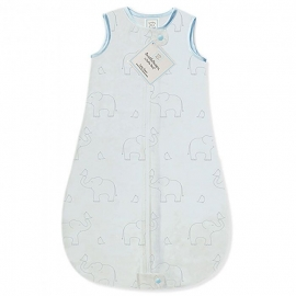 Детский спальный мешок SwaddleDesigns zzZipMe Sack (3-6) Blue/Sterling Deco Elephant