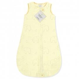 Детский спальный мешок SwaddleDesigns zzZipMe Sack (3-6) Yellow/Sterling Deco Elephant