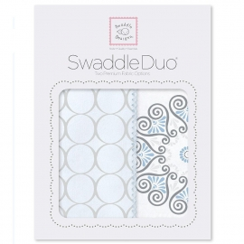 Набор пеленок SwaddleDesigns Swaddle Duo Blue Mod Medallion