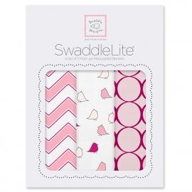 Наборы пеленок SwaddleDesigns SwaddleLite Chic Chevron Lite Pink