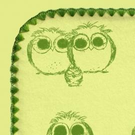 Фланелевая пеленка для новорожденного SwaddleDesigns PG Owls