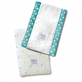 Полотенчики SwaddleDesign Baby Burpie Set SC & Sterling Dot