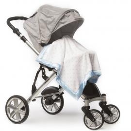 Плед детский в коляску SwaddleDesigns Stroller Blanket PB & Sterling Dot