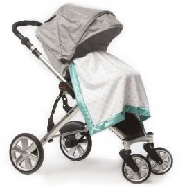 Плед детский в коляску SwaddleDesigns Stroller Blanket SC & Sterling Dot