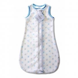 Детский спальный мешок SwaddleDesigns zzZipMe 3-6 М PB & Sterling Dot