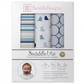 Наборы пеленок SwaddleDesigns SwaddleLite Jewel Tone Stripes