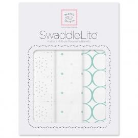 Набор пеленок SwaddleDesigns SwaddleLite Seacrystal Sparklers Lite