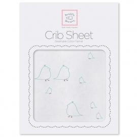 Детская простынь Fitted Crib Sheet SeaCrystal Chickies