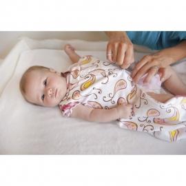 Спальный мешок для новорожденного SwaddleDesigns zzZipMe Sack 12-18M Flannel PB Elephant & Chickies