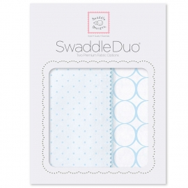 Набор пеленок SwaddleDesigns Swaddle Duo PB Dot/Mod Circle