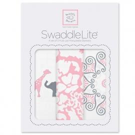 Набор пеленок SwaddleDesigns SwaddleLite PP Elephant/Chickies