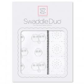 Набор пеленок SwaddleDesigns Swaddle Duo Serling Pstl Baby Owls