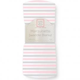 Пеленка детская тонкая SwaddleDesigns Маркизет Simple Stripes Pstl Pink