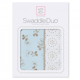 Набор пеленок SwaddleDesigns Swaddle Duo TG/PB Mickey