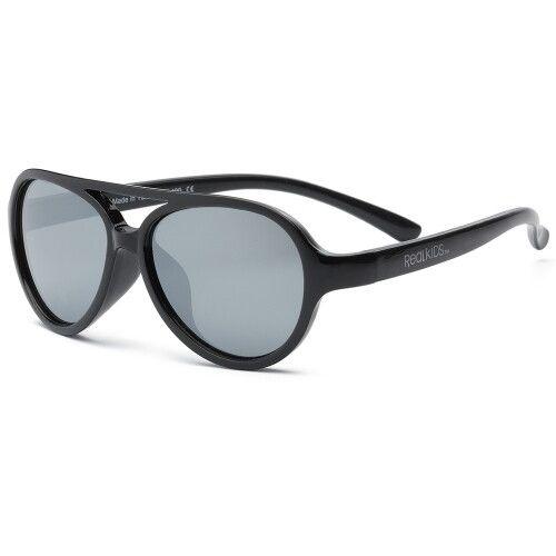 Детские солнцезащитные очки Real Kids Авиаторы 7+ черные