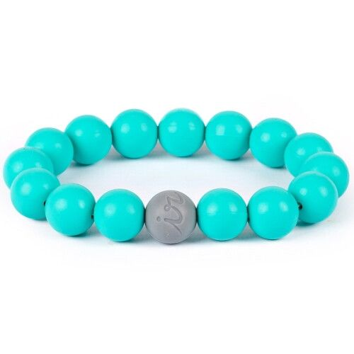 Силиконовый браслет Itzy Ritzy Round Bead Turquoise