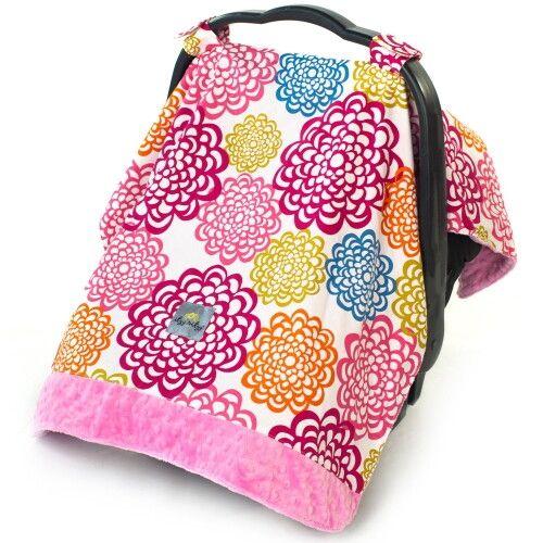 Накидка на автокресло Itzy Ritzy Fresh Bloom with Pink Minky