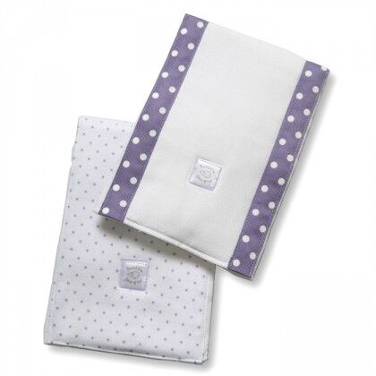 Полотенчики SwaddleDesign Baby Burpie Set Lavender Dot