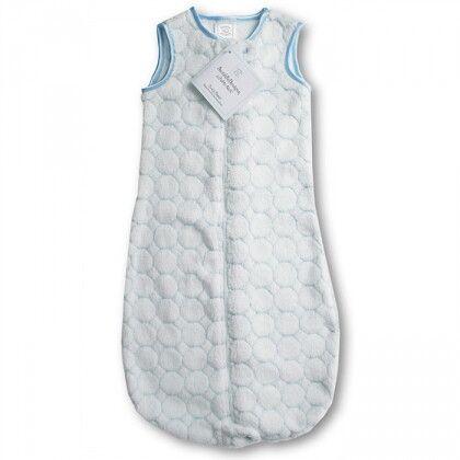 Детский спальный мешок SwaddleDesigns zzZipMe 12-18 М Pstl Blue Puff Circles