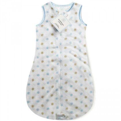Детский спальный мешок SwaddleDesigns zzZipMe 6-12 М Pstl Blue/Gold Dots