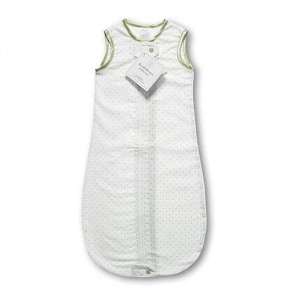 Спальный мешок для новорожденного SwaddleDesigns zzZipMe Sack 6-12M Flannel Kiwi Polka Dot