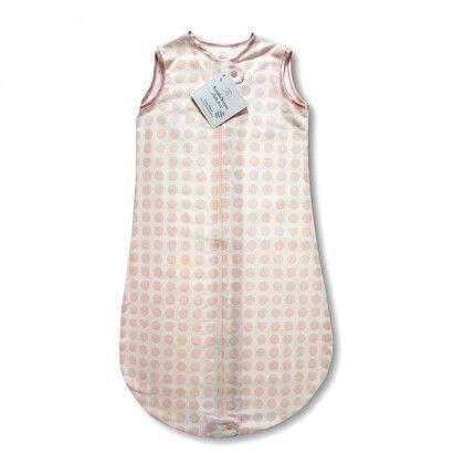 Спальный мешок для детей SwaddleDesigns TOG 0.7 zzZipMe Sack 3-6 M - Organic Flannel PP Dots & Hearts