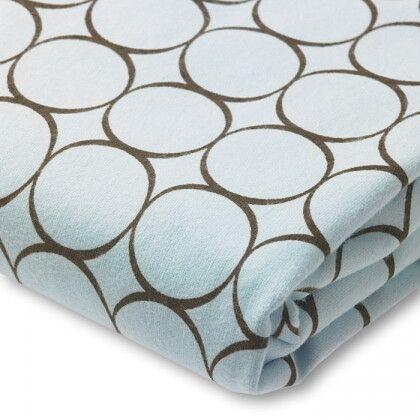 Простынь детская SwaddleDesigns Fitted Crib Sheet Blue w/BR Mod C