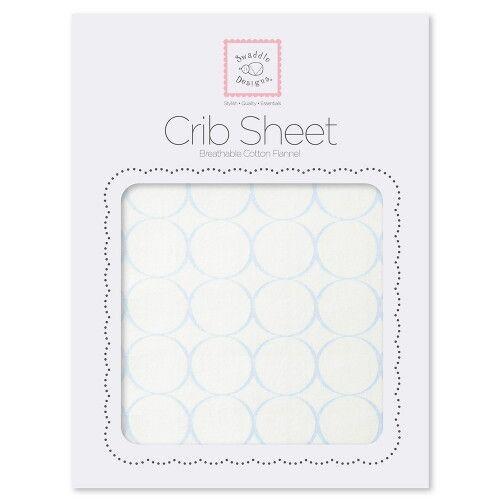 Простынь детская SwaddleDesigns Fitted Crib Sheet - Organic Blue Mod C on IV