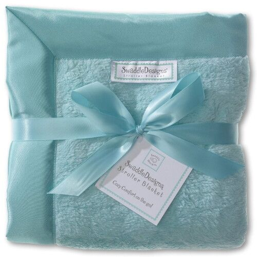 Плед детский SwaddleDesigns Stroller Blanket Turquoise Puff C