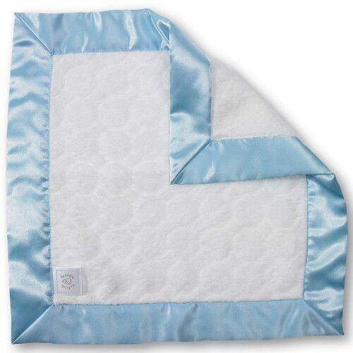 Комфортер платочек обнимашка Baby Lovie SwaddleDesigns плюшевая нежность Ivory Puff w/Blue
