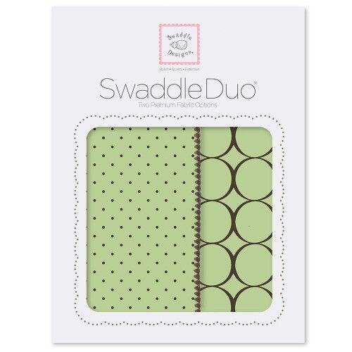 Набор пеленок SwaddleDesigns Swaddle Duo Lime Modern