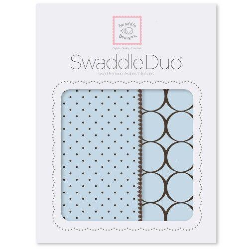 Набор пеленок SwaddleDesigns Swaddle Duo Pstl Blue Modern