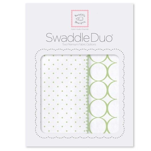 Набор пеленок SwaddleDesigns Swaddle Duo Kiwi Classic