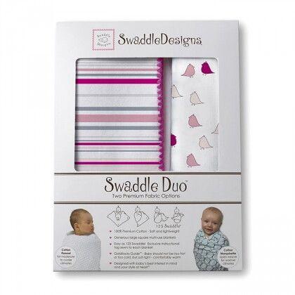 Набор пеленок SwaddleDesigns Swaddle Duo PK/VB Lt Chickies