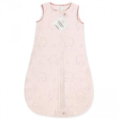 Детский спальный мешок SwaddleDesigns zzZipMe Sack (6-12) Pink/Srerling Deco Elephant