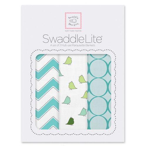 Наборы пеленок SwaddleDesigns SwaddleLite Chic Chevron Lite TQ