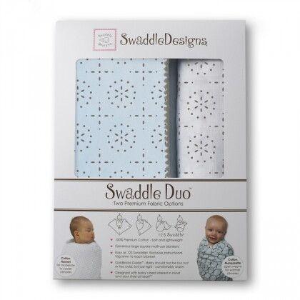 Набор пеленок SwaddleDesigns Swaddle Duo Sparklers Pt Blue