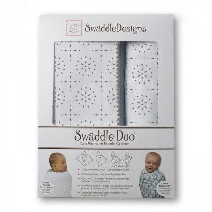Набор пеленок SwaddleDesigns Swaddle Duo Sparklers Green